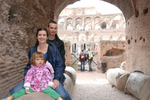 Our family at the Colosseum
